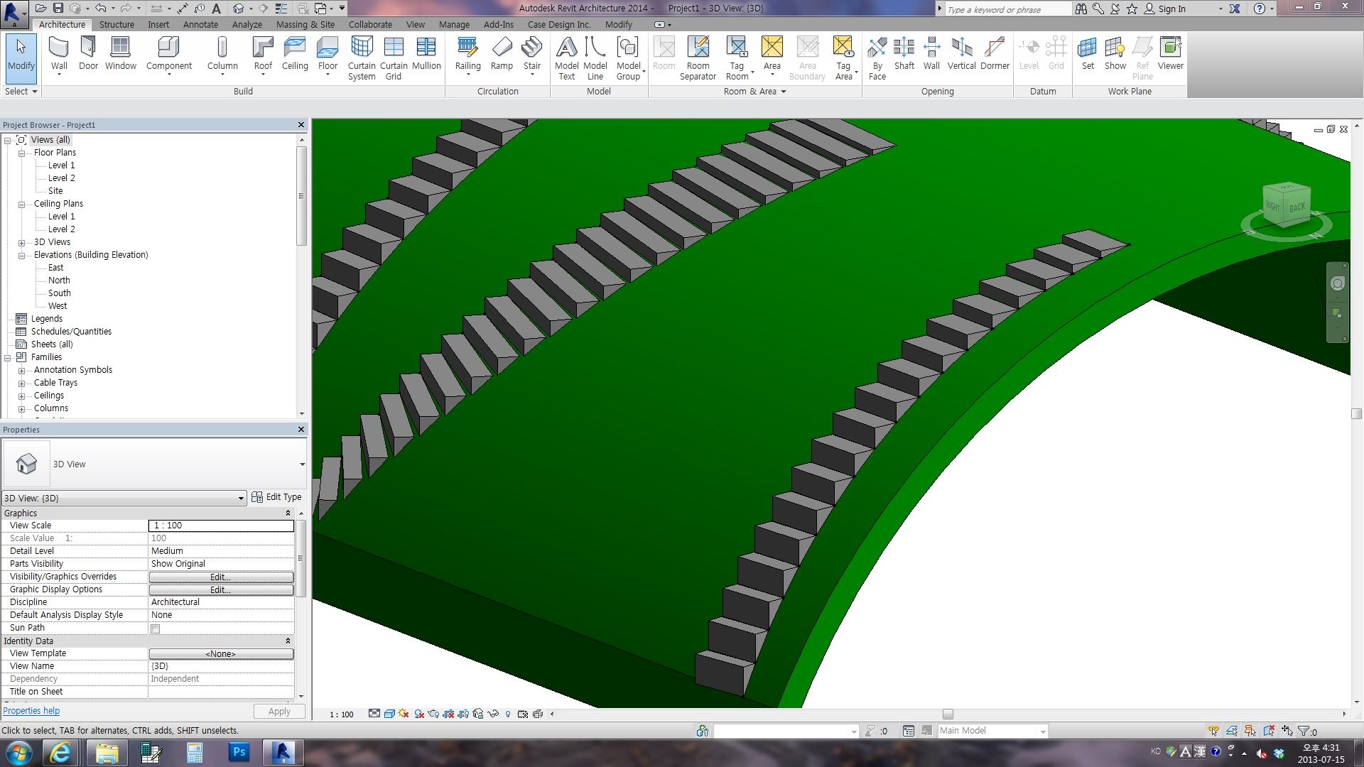 Revitcity Com Sloping Semi Circular Roof Revit 2012