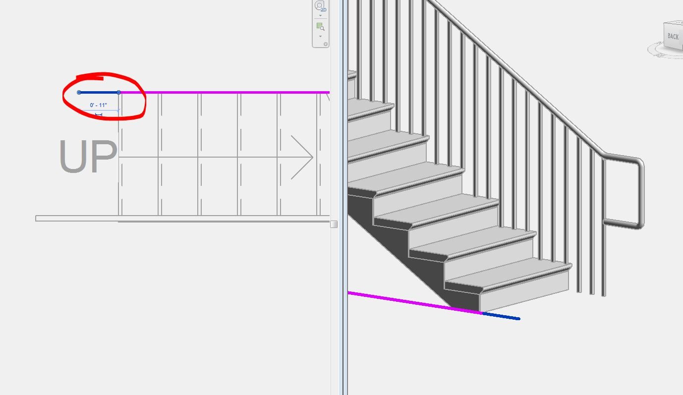 Stair Railing Baluster Falls Short On ADA Railing Extension