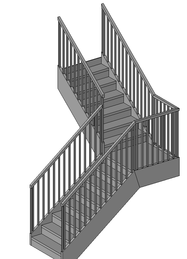 Revitcity Com Stair Railing At The Interior Corner Of A