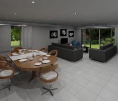 Open plan living - render 2