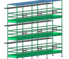 scaffold tower - multiple bays and levels