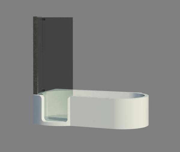 Object Walkin Shower Tub Combo W Glass Door