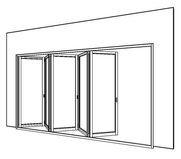 Revitcity Com Object 5 Panel Bi Fold External Door