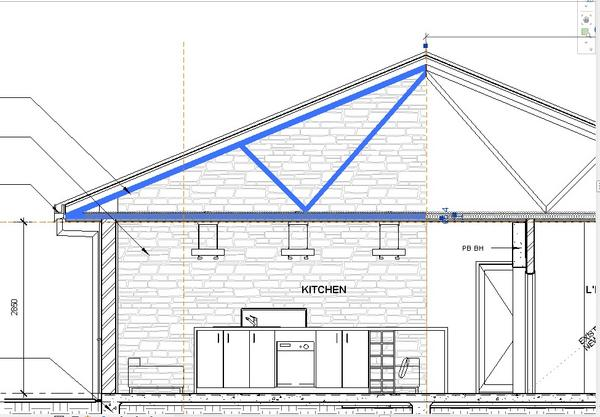 Revitcity Com Object Roof Truss Half Parametric