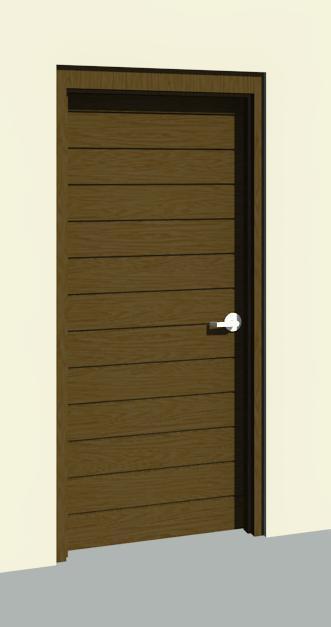 Object modern door stripes puerta for Puertas de aluminio modernas