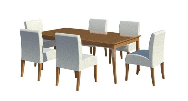 Object dining table chair for Sofa table revit