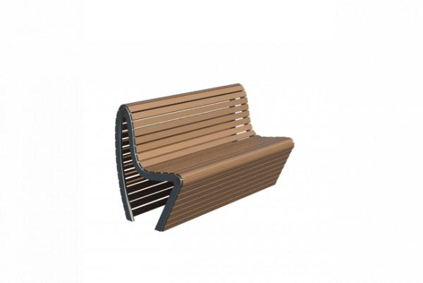 Object outdoor modern bench banca for Outdoor furniture revit