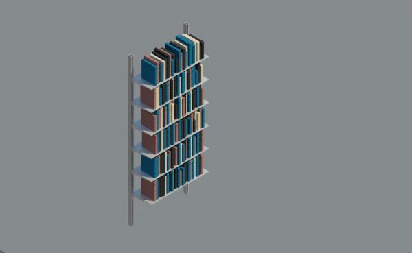 Revitcity Com Object Wall Mount Book Shelves