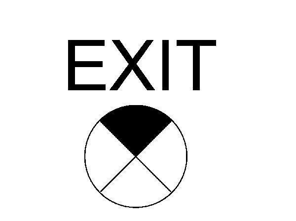 RevitCitycom Object Exit Sign Symbol