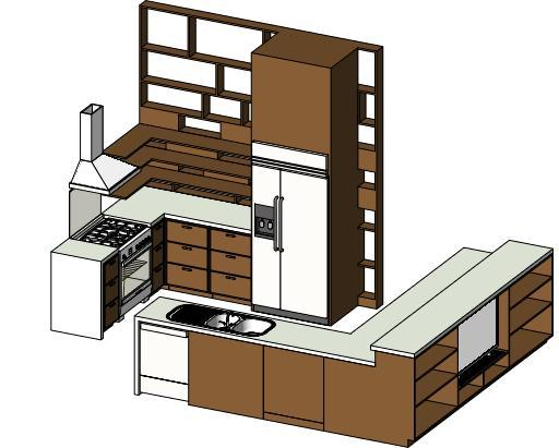 RevitCity.com Object Mid Size Kitchen - Revit 2011