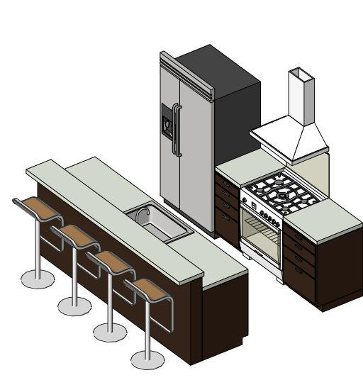 Revit Modern Kitchen Cabinets