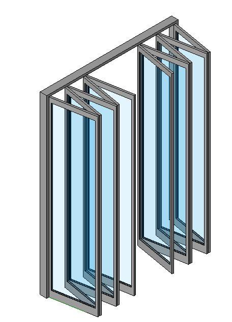 Folding curtain wall curtain menzilperde net for Retractable glass wall system