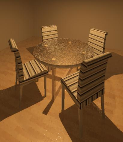 RevitCity.com | Object | round glass dining table and four ...