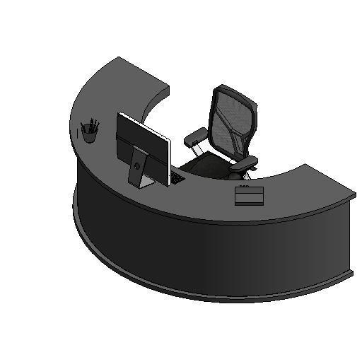 Semi Circle Desk With Computer Ceo