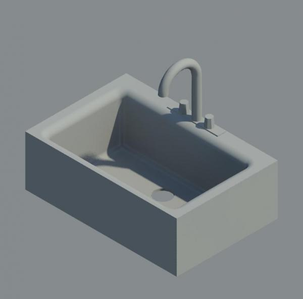 Revitcity Com Object Small Sink With Faucet