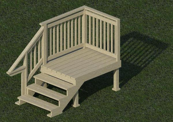 object parametric wood porch stair