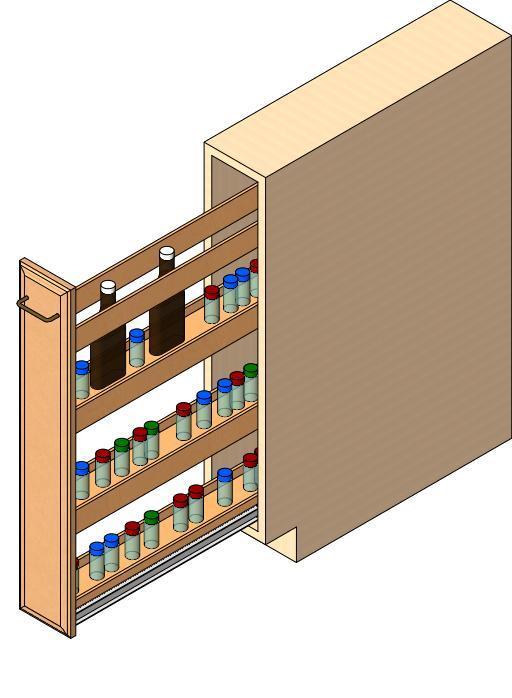 Under Counter Spice Rack