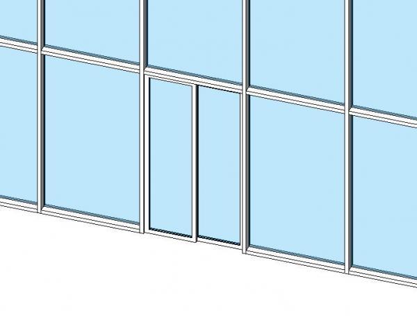 Object sliding curtain wall door for Sliding window wall