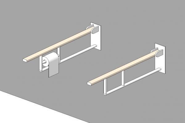 handrail for handicap toilet
