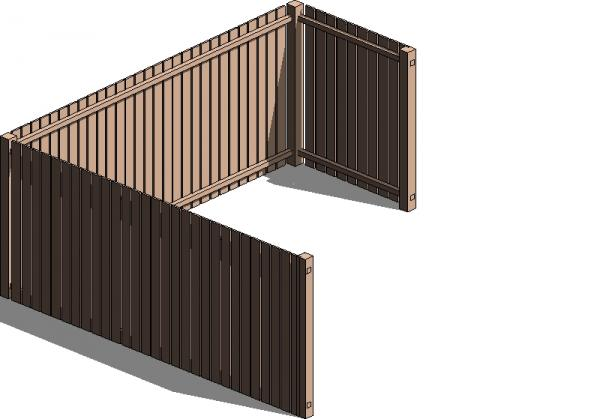 Revitcity Com Object Regular Residential Wood Fence