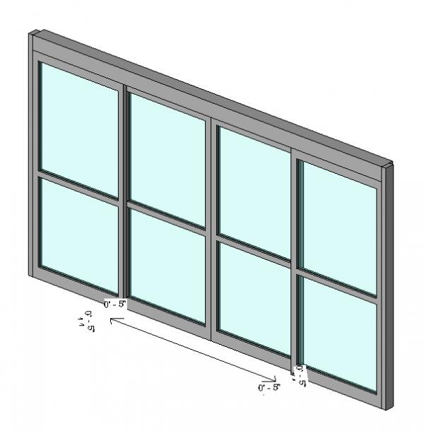 Revitcity object curtain wall panel automatic