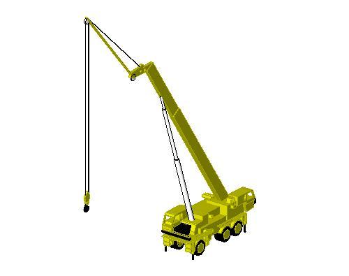 Mobile Crane Revit Family : Revitcity object mobile crane telescopic