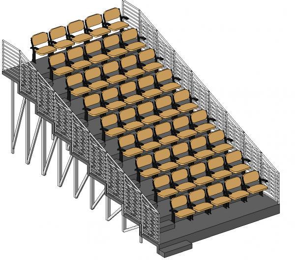 Revitcity Com Object Parametric Telescopic Seating