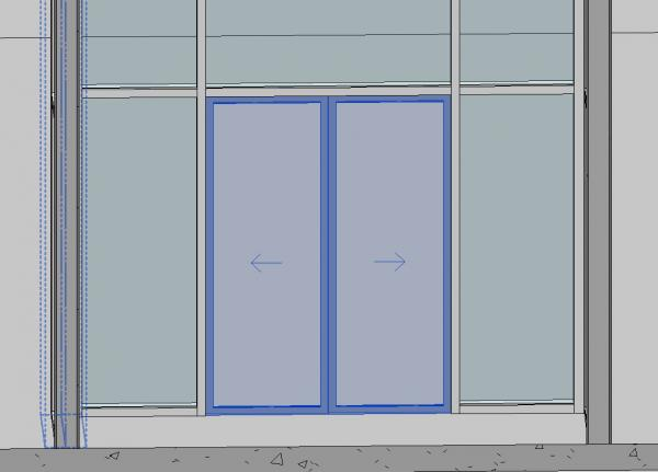 Object curtain wall sliding door double for In wall sliding glass doors