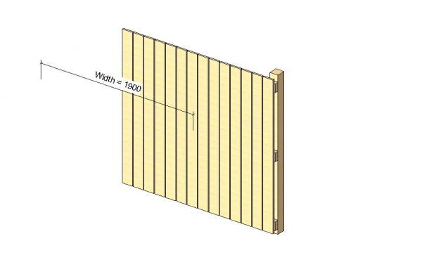 RevitCity com   Object   Timber fence - Close boarded