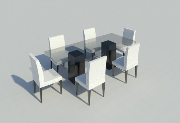 Revitcity object dinning room table and chairs