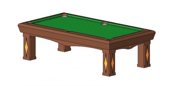 RevitCitycom Object FT POOL TABLE - Revit pool table