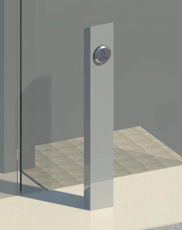 Safe Site Checker >> RevitCity.com | Object | Barrier Free Door Operator - Pedestal With Push Button