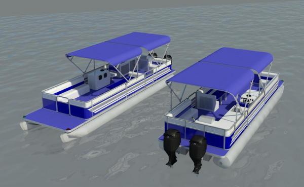 RevitCity.com   Object   Pontoon Boat