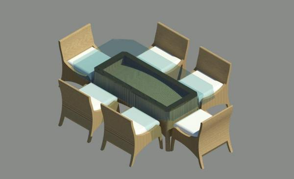 Revitcity object patio table with chairs