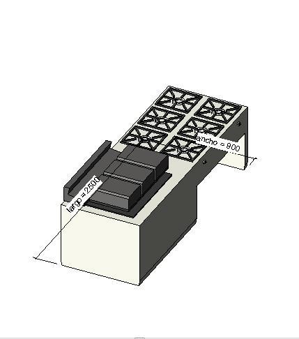 Object cocina industrial resturantes - Medidas de cocina ...