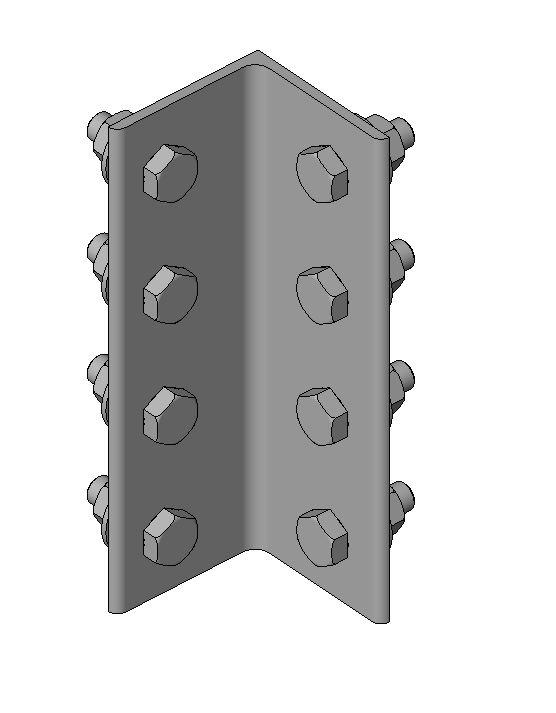 RevitCity.com | Object | Single Angle Connection - Single Row