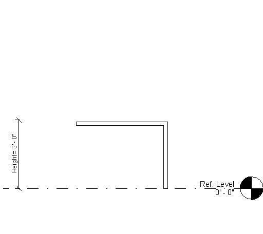 RevitCity com | Object | Waterfall Countertop ADA HT adjustable