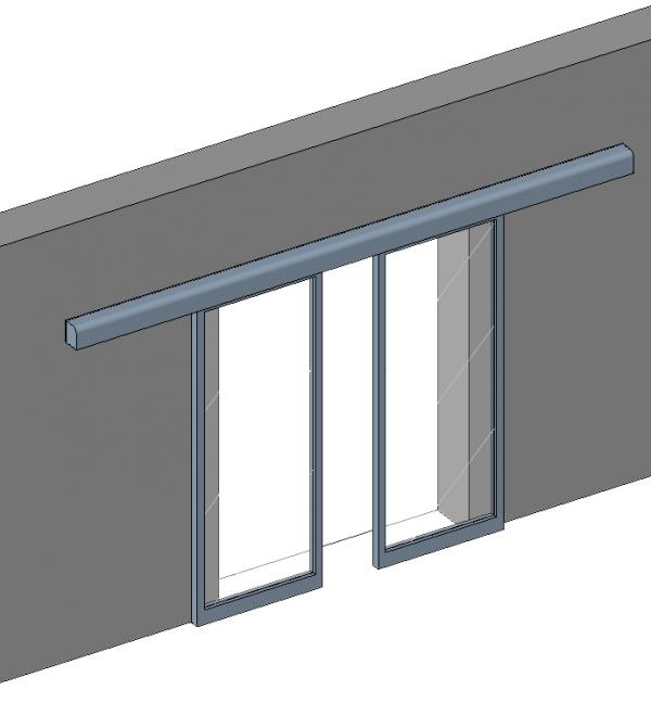 Object automatic sliding door for Puertas corredizas revit