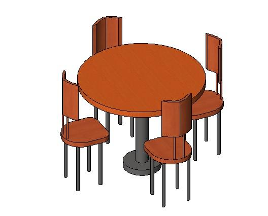 4 Top Round 3 Diameter Fast Food Restaurant Table Chairs