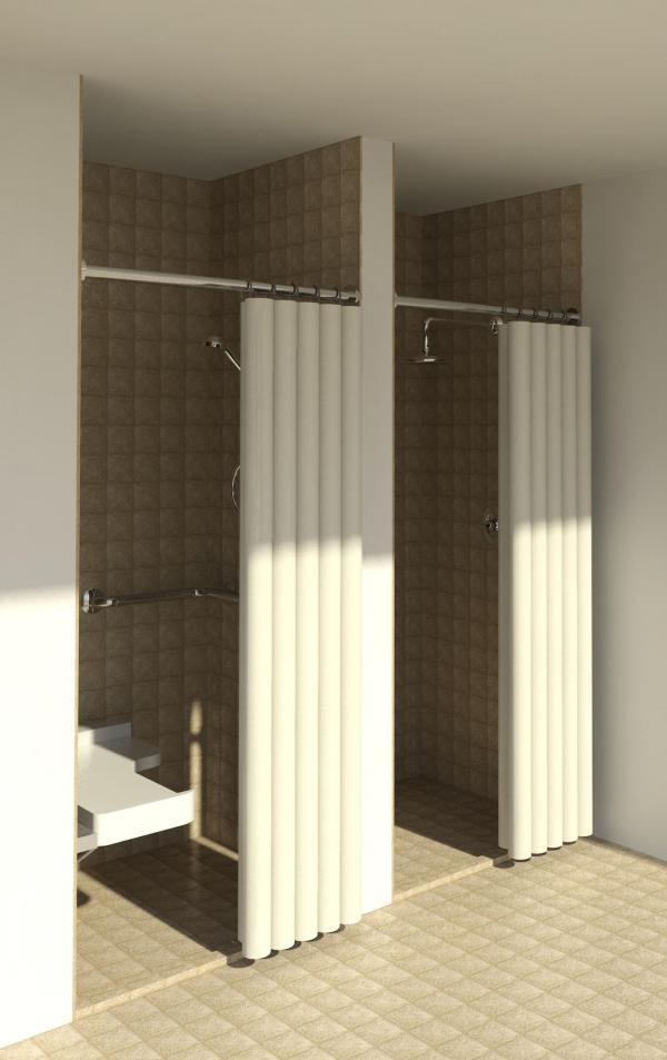 Revitcity Com Object Commercial Ada Amp Standard Shower