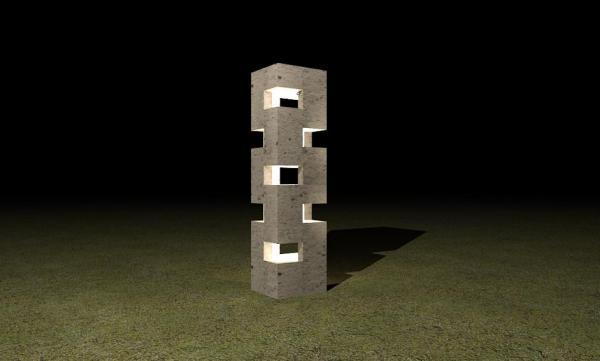 RevitCity.com Object External Concrete Garden Light