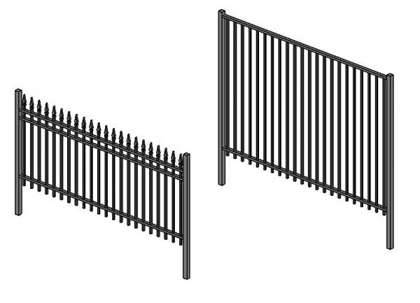 RevitCity com | Object | Fence - Metal Ornamental (Wrought Iron)