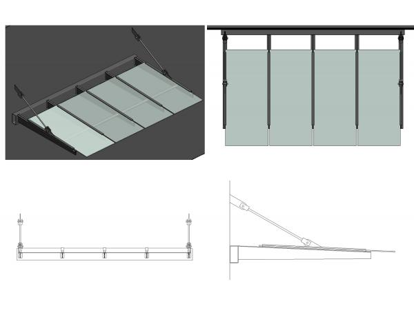 Revitcity Com Object Glass Amp Steel Awning