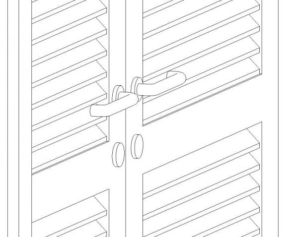 RevitCity com | Object | Louvered Double Door Parameterized