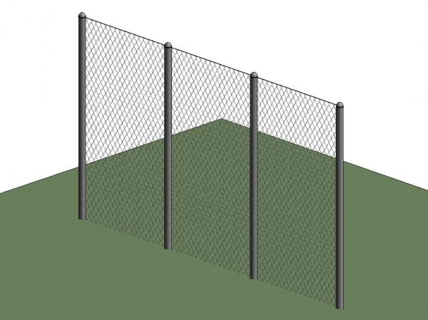 RevitCity com   Object   Chain Link Wall Type
