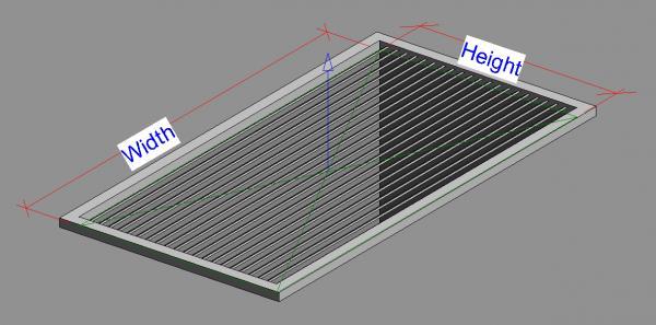 RevitCity com | Object | Parametric Air Terminal Grille