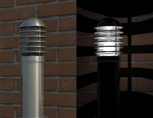 Object Garden Bollard Light Fixture