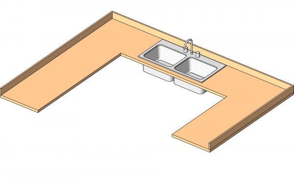 Countertop Material Revit : RevitCity.com Object Countertop U-shape with Sink