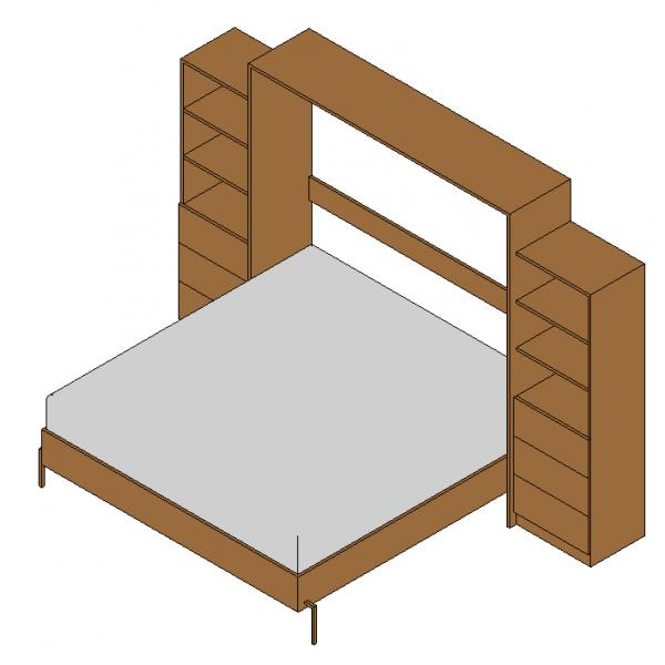 RevitCitycom Object Cabinet Fold Out Bed Revit 2016
