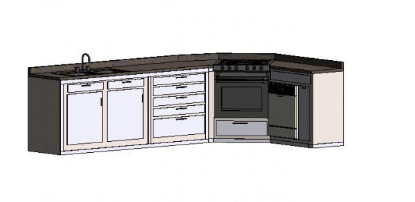 Countertop Material Revit : RevitCity.com Object Kitchen Counter 2014 Revit Simple but nice